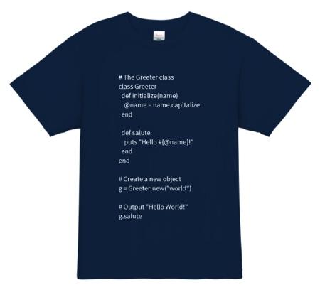 Ruby エンジニアTシャツ