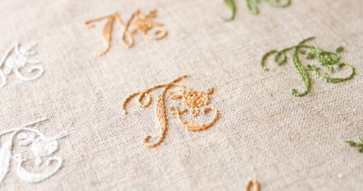 刺繍で文字を作ろう!名前やイニシャル入りのおしゃれな刺繍を簡単に作る方法