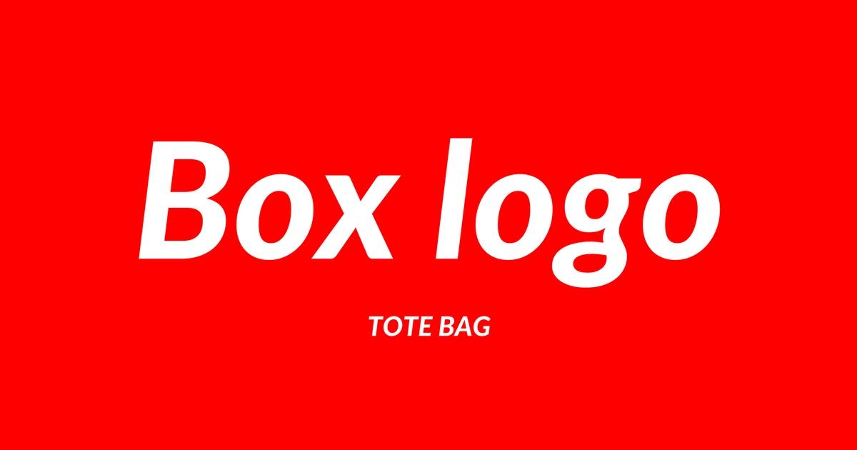 シュプリーム風ボックスロゴトートバッグがオリジナルで作れる!
