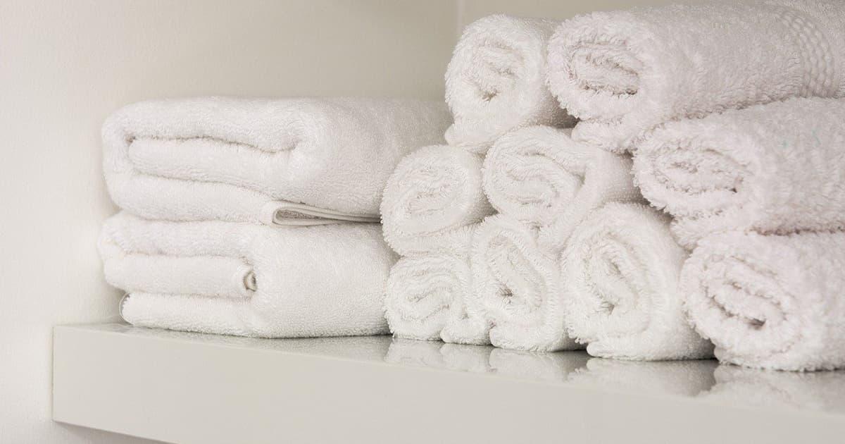 バスタオルをかっこよくDIY収納!すっきりした見た目にする方法!