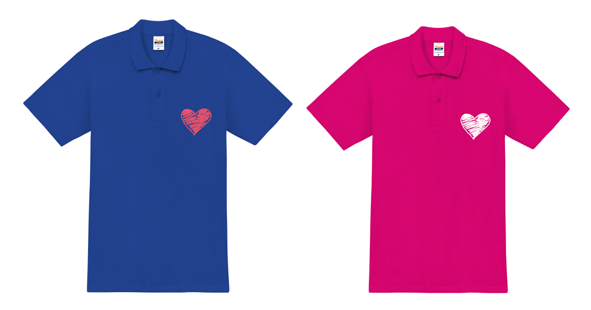 カップルお揃いのオリジナルペアポロシャツを激安で作ろう♪WEBで簡単デザイン