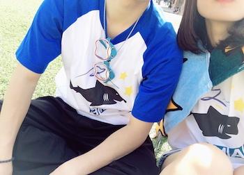 20代・女性・さめちぃさんのオリジナルプリント作成事例丨オリジナルTシャツTMIX