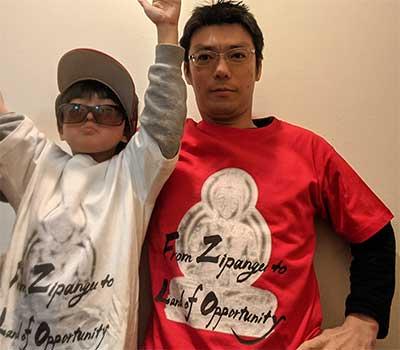 40代・男性・石垣走さんのオリジナルプリント作成事例丨オリジナルTシャツTMIX