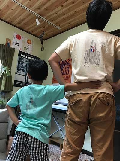 40代・女性・ちかさんのオリジナルプリント作成事例丨オリジナルTシャツTMIX