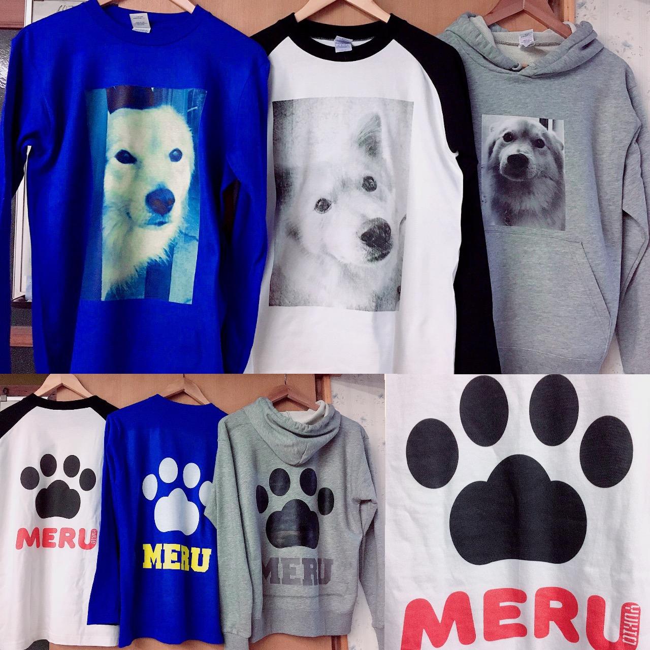20代・女性・愛犬家さんのオリジナルプリント作成事例丨オリジナルTシャツTMIX