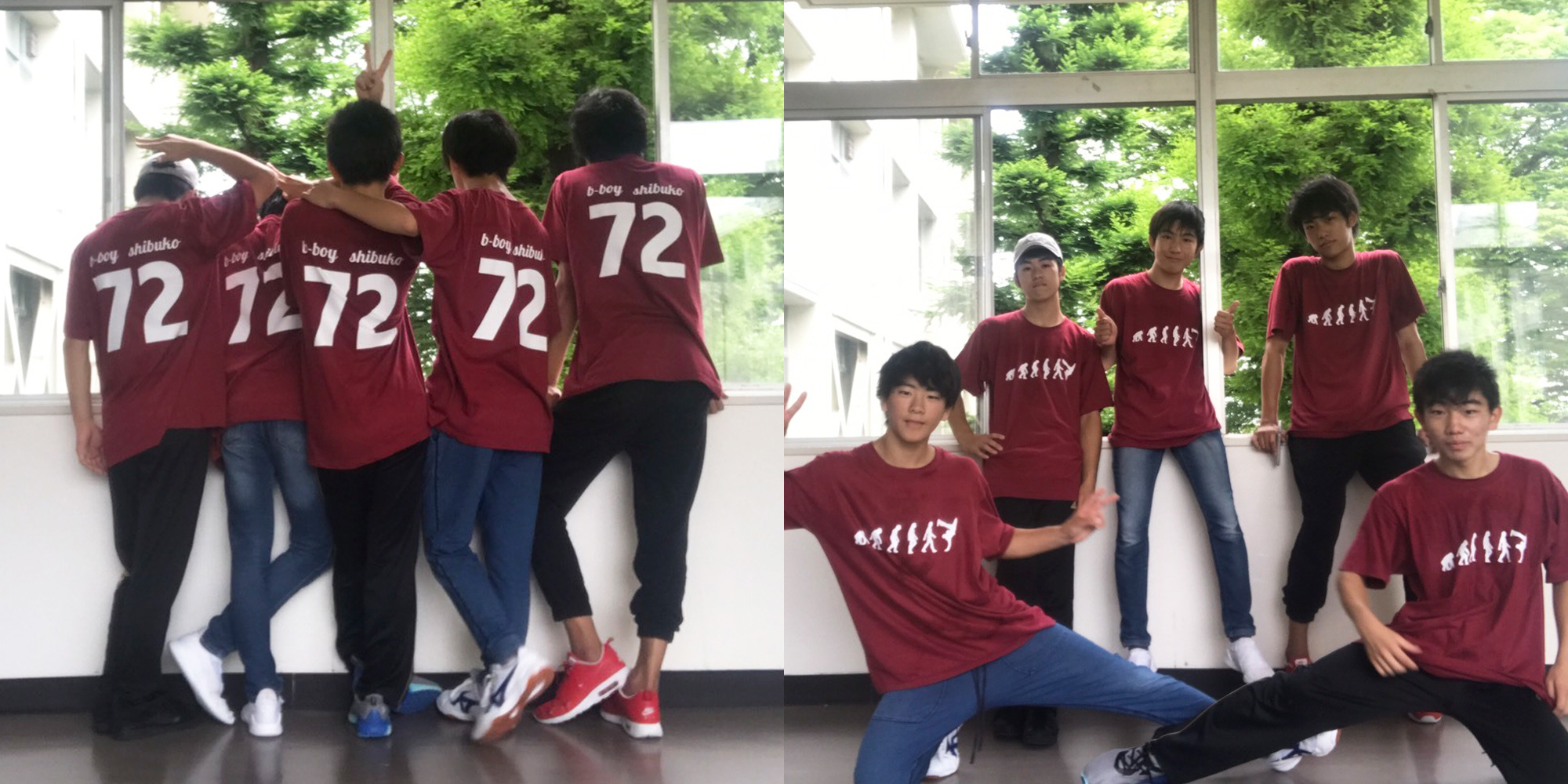 10代・女性・しぶこーびーぼーいず1年さんのオリジナルプリント作成事例丨オリジナルTシャツTMIX