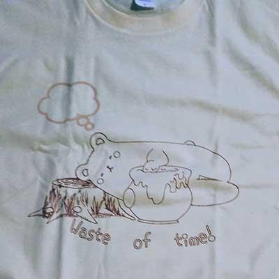 20代・女性・gomaさんのオリジナルプリント作成事例丨オリジナルTシャツTMIX