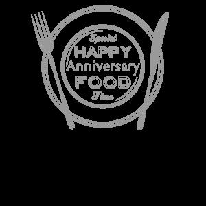 飲食_皿シルエットTシャツデザイン