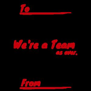 寄せ書き We're a TeamTシャツデザイン