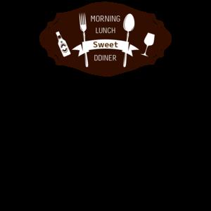 飲食_食器シルエットTシャツデザイン