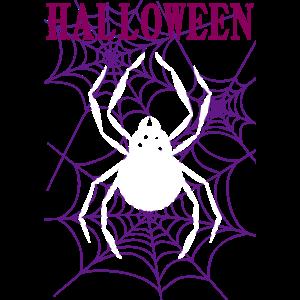 ハロウィン蜘蛛Tシャツデザイン
