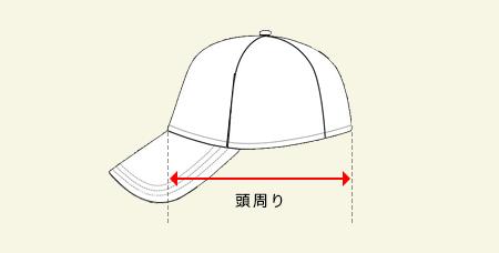 メッシュキャップの測り方画像