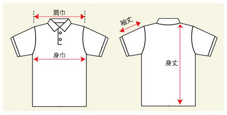 ラインポロシャツの測り方画像