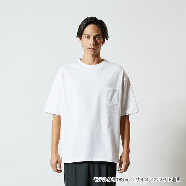 モデル身長182㎝/Lサイズ/ホワイト 着用/正面シルエット