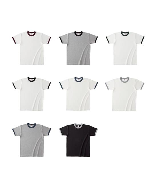 オープンエンドマックスウェイトリンガーTシャツのカラー展開