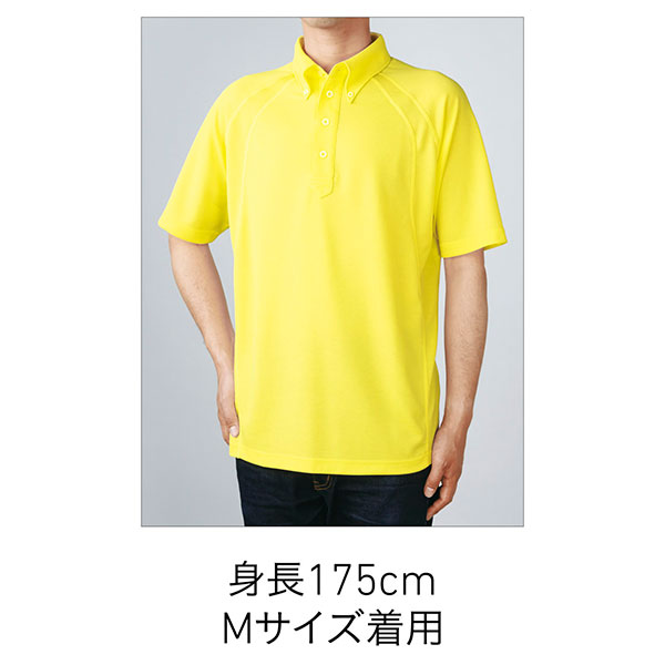 ボタンダウンポロシャツの着用写真 Mサイズ