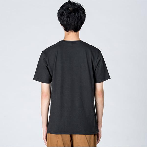 モデル身長184㎝/Lサイズ/スモークブラック着用/背面シルエット