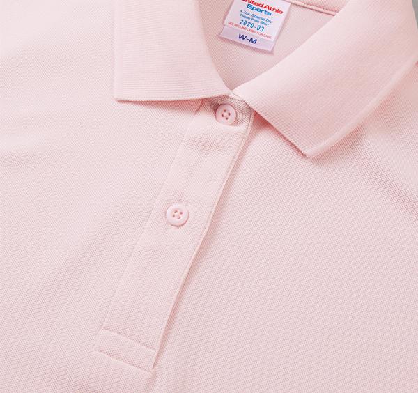 スペシャルドライカノコポロシャツ(ローブリード)〈ウィメンズ〉の襟周り