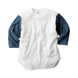 オープンエンド 7分袖ベースボールTシャツ