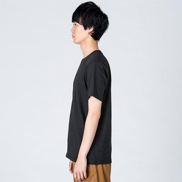 モデル身長184㎝/Lサイズ/スモークブラック着用/サイドシルエット