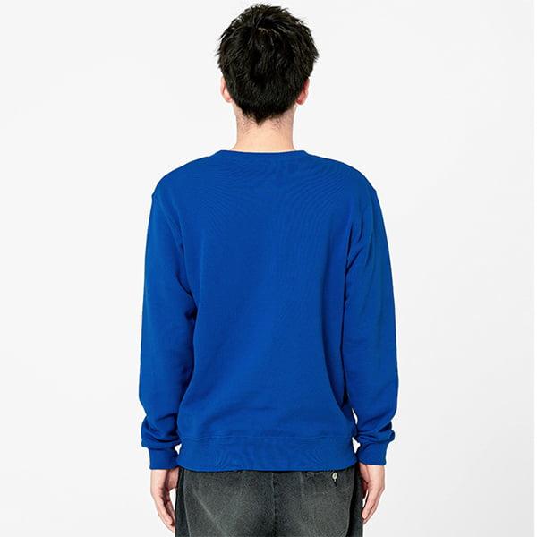 モデル身長180㎝/Lサイズ/ブルー着用/背面シルエット