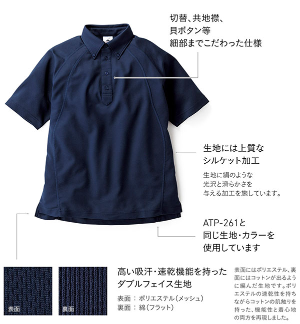 ボタンダウンポロシャツの詳細