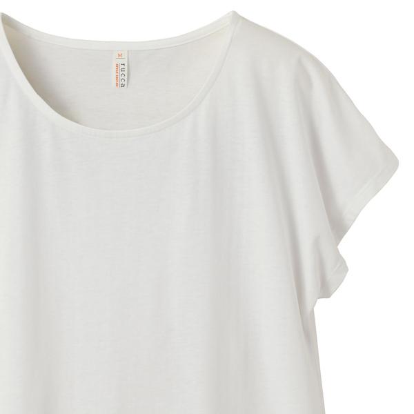 ワンピースTシャツの袖、首周り(バニラホワイト)