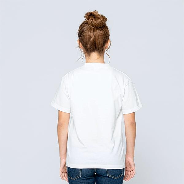 モデル身長161㎝/Sサイズ/ホワイト着用/背面シルエット