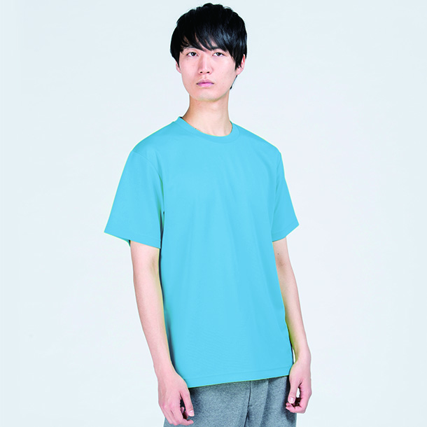 即日スポーツドライTシャツ ターコイズの着用写真