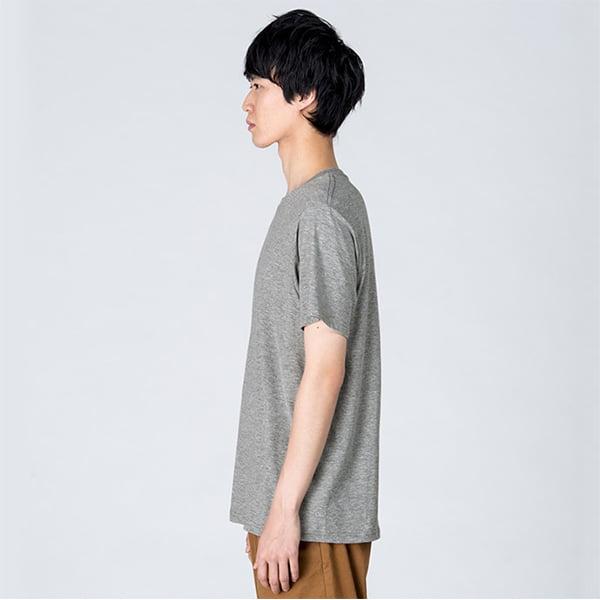 モデル身長184㎝/Lサイズ/杢グレー着用/サイドシルエット