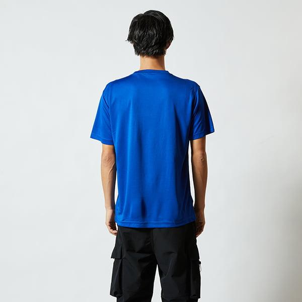 モデル身長182㎝/Lサイズ/コバルトブルー着用/サイドシルエット