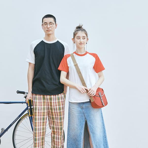 男性モデル身長185㎝ Lサイズ着用/女性モデル身長164㎝ Sサイズ着用