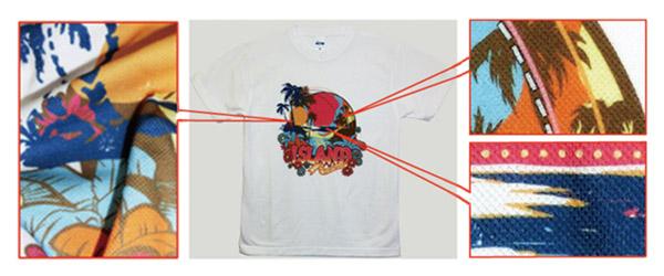 ドライメッシュTシャツのプリント
