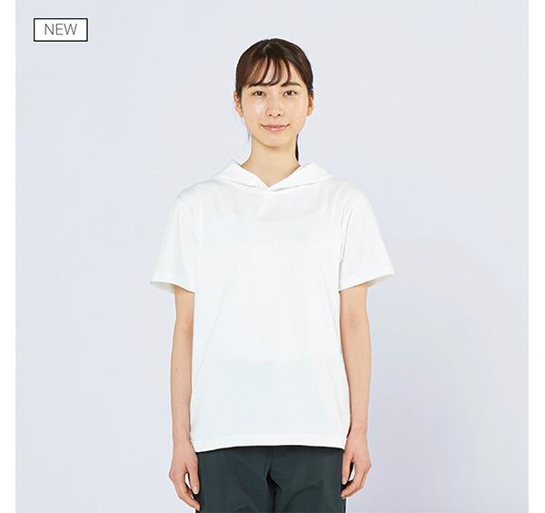 ヘビーウェイトフーディTシャツの着用正面_女性