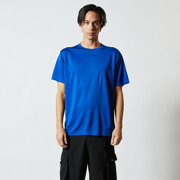 モデル身長182㎝/Lサイズ/コバルトブルー着用/正面シルエット