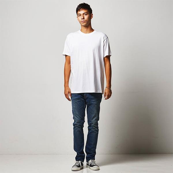 モデル身長182㎝/XLサイズ/ホワイト着用