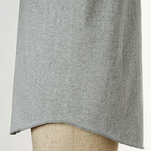 ツートンカラーベースボールTシャツの裾