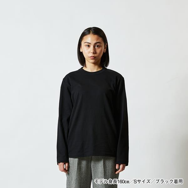 モデル身長160㎝/Sサイズ/ブラック着用/正面シルエット