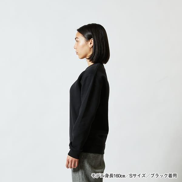 モデル身長160㎝/Sサイズ/ブラック 着用/サイドシルエット