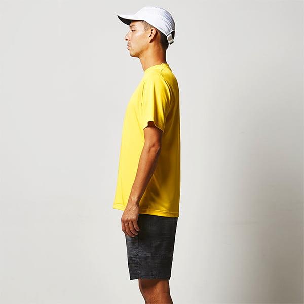 モデル身長190㎝/Mサイズ/カナリアイエロー着用/サイドシルエット