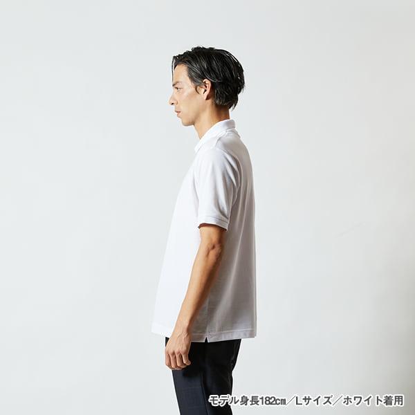 モデル身長182㎝/Lサイズ/ホワイト 着用/サイドシルエット