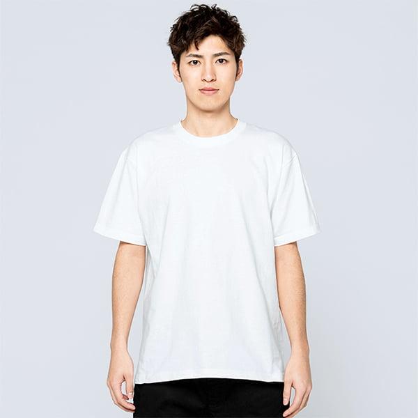 モデル身長180㎝/Lサイズ/ホワイト着用/正面シルエット