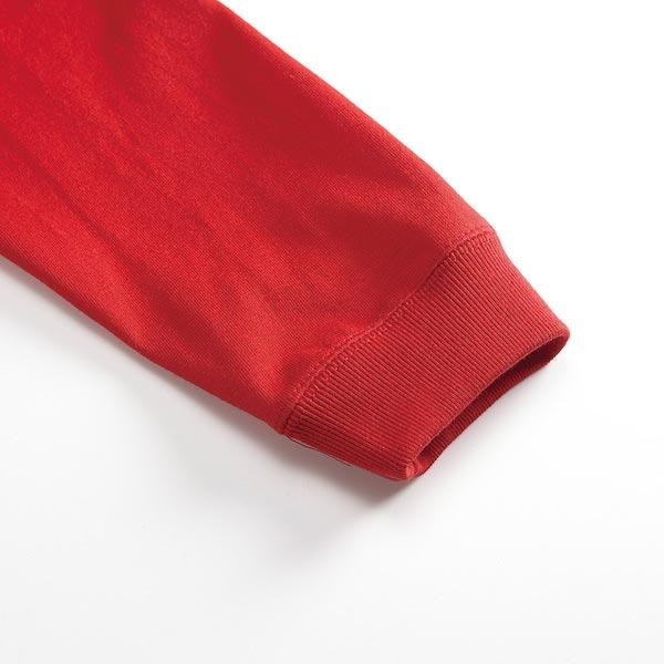 リブ付ロングスリーブTシャツの袖