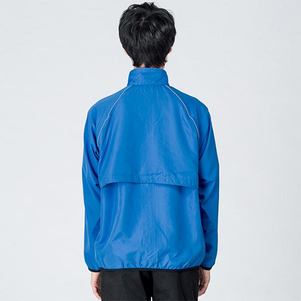 男性モデル身長 / 184cm / ブルー / Lサイズ着用(背面)