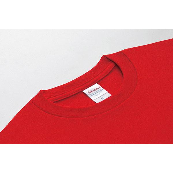 即日Tシャツ レッドの首周り