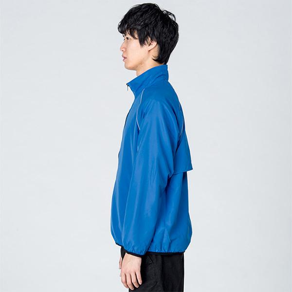 男性モデル身長 / 184cm / ブルー / Lサイズ着用(横)