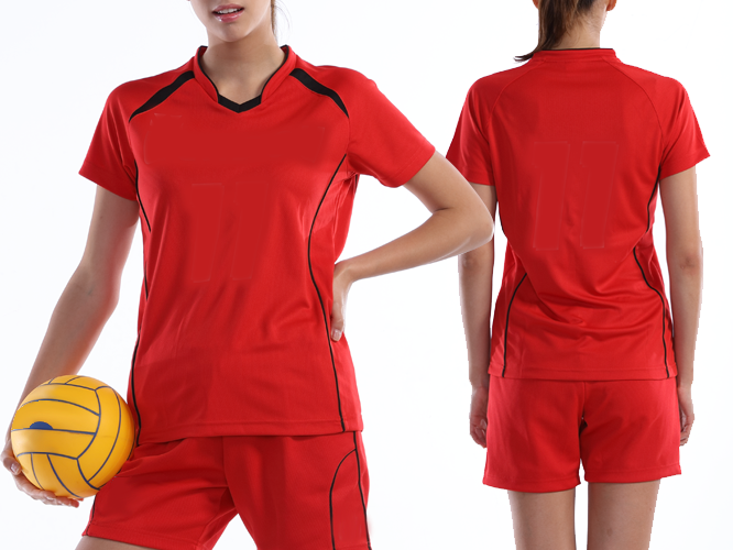 ウィメンズバレーボールシャツ着用写真 / 女性 ※バレーボールは付属していません。