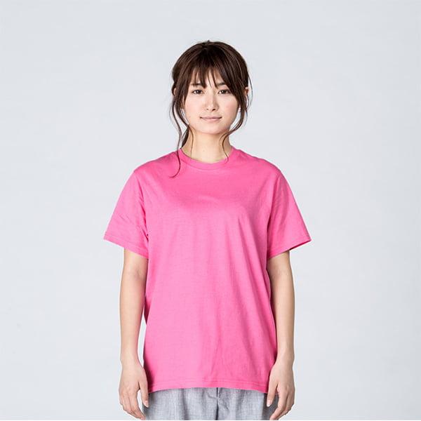 モデル身長161㎝/Sサイズ/ピンク着用/正面シルエット