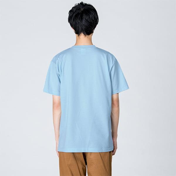 モデル身長184㎝/Lサイズ/ライトブルー着用/背面シルエット
