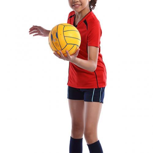 ウィメンズバレーボールパンツ着用写真 / 女性 / ジュニアサイズ  ※バレーボール、膝サポーターは付属していません。